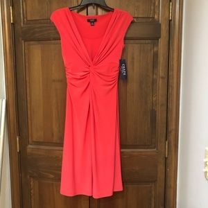 Pink coral colored dress chaps new with tags